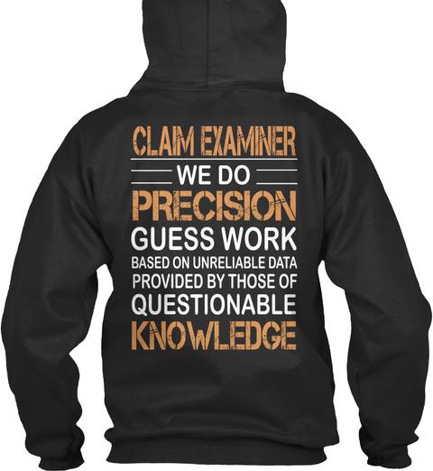 Claim Examiner Jet Black T-Shirt Back