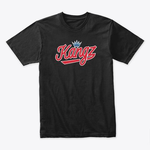 Kangz Shirt (Retro Blue) Black Camiseta Front
