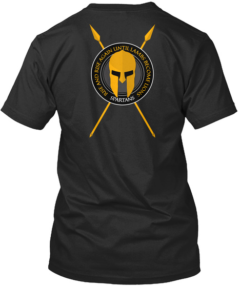 Spartans   Rise 02 Black T-Shirt Back