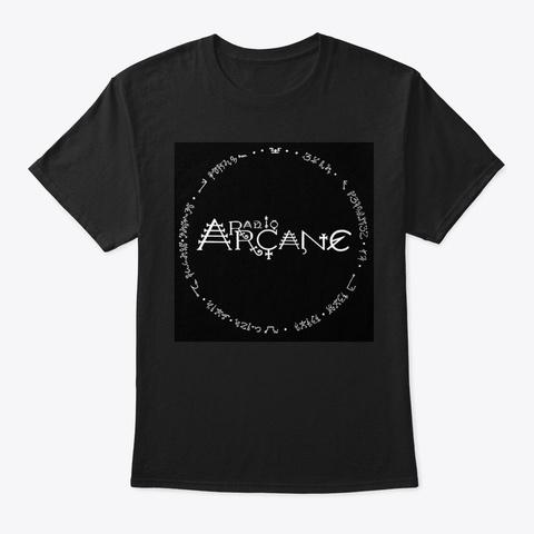 Radio Arcane Circle Logo Black T-Shirt Front