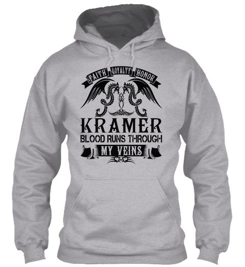 Faith Loyalty Honor Kramer Blood Runs Through My Veins Sport Grey T-Shirt Front