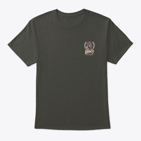 Army Veteran Smoke Gray T-Shirt Front