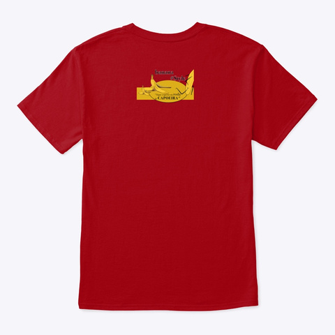 #Rasteira #Capoeira  Deep Red T-Shirt Back