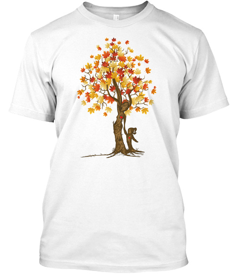 Funny Mom Daughter Maple Tree Tshirt White T-Shirt Front