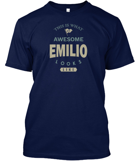 Awesome Emilio Look Like Navy T-Shirt Front