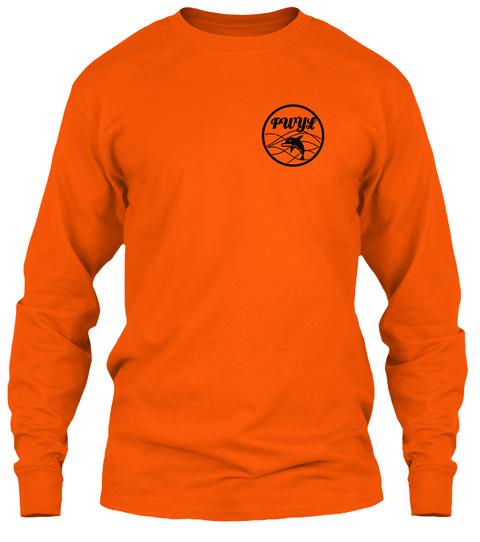 Pwyl Safety Orange T-Shirt Front
