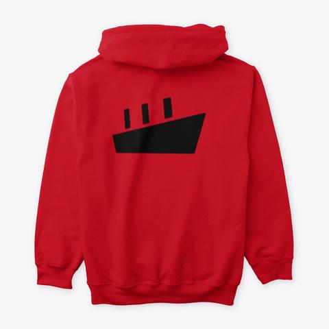 Ship Print Tshirt Red T-Shirt Back