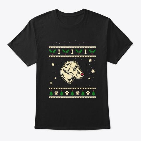 Christmas Gampr Dog Gift Black T-Shirt Front