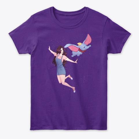 Taiga & Dumbo T Shirt Purple T-Shirt Front