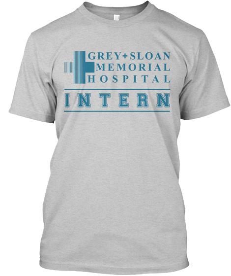 Grey+Sloan Memorial Hospital Intern Light Steel T-Shirt Front