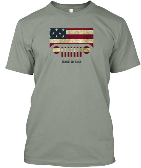 Made In Usa Grey T-Shirt Front