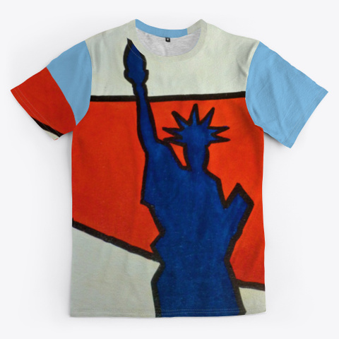 Nyc   Icons Light Blue T-Shirt Front