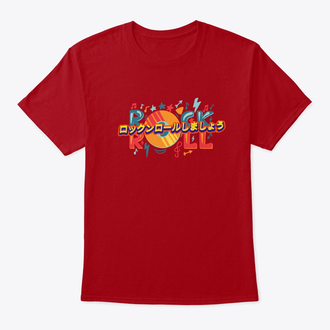 Lets Rock&Roll Deep Red T-Shirt Front