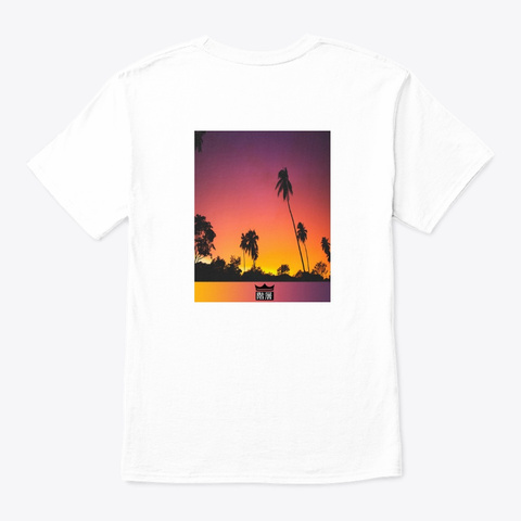 Palms Snapshot White T-Shirt Back