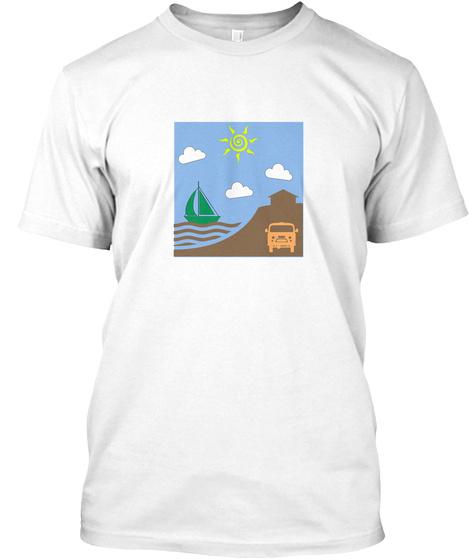 Sailboat T Shirt White T-Shirt Front