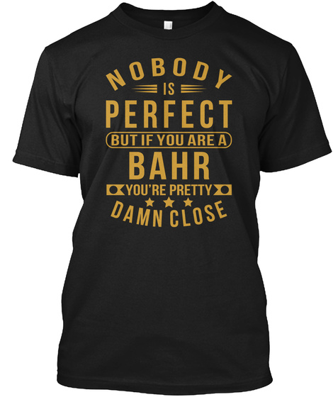 Nobody Perfect Bahr Thing Tee Shirts Black T-Shirt Front