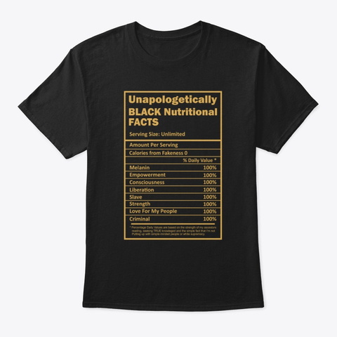 Unapologetically Dope Nutrition T Shirt Black T-Shirt Front