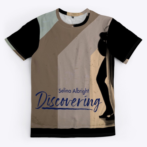 """Selina Albright """"Discovering"""" Collection Black T-Shirt Front"""