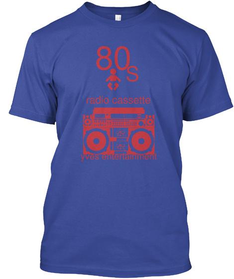 80s Deep Royal T-Shirt Front