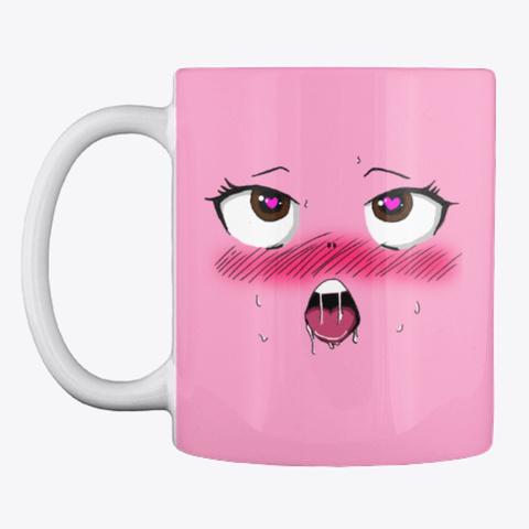 Ahegao Mug! Pink Camo Camiseta Front