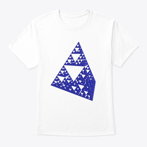 Sierpinski Pyramid White T-Shirt Front
