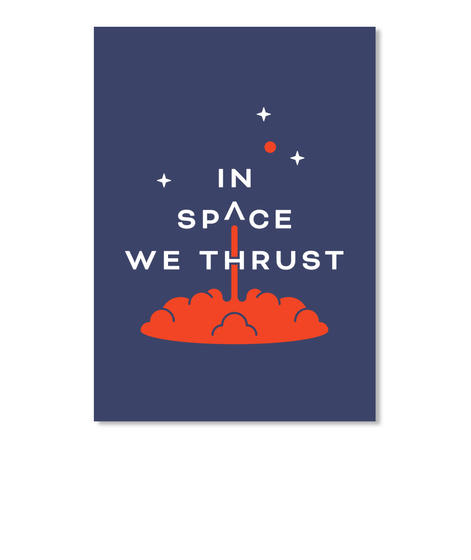 In Space We Thrust Sticker [Usa] #Sfsf Dk Navy Autocollant Front