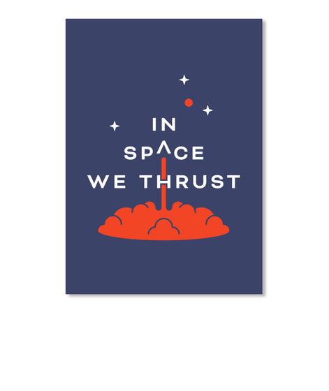 In Space We Thrust Sticker [Usa] #Sfsf Dk Navy Sticker Front