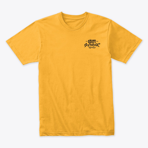Stay Savage Black Logo Gold T-Shirt Front