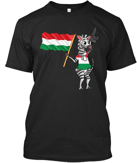 A Hungarian Zebra / Ungar Zebra Black T-Shirt Front