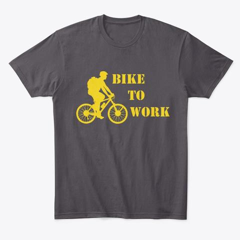 Bike To Work  Scheme Heathered Charcoal  T-Shirt Front