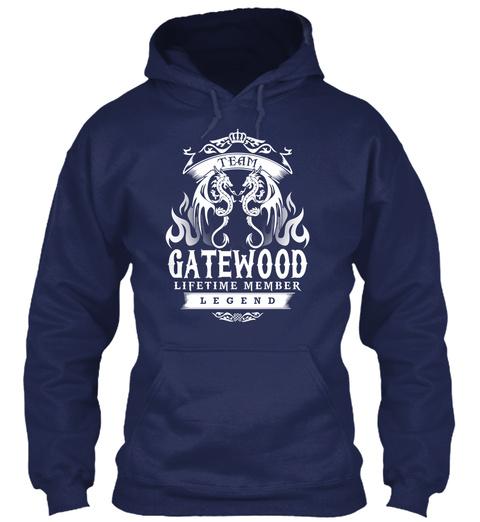 Team Gatewood Lifetime Member Legend Navy T-Shirt Front