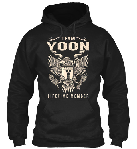 Team Yoon Lifetime Member Black T-Shirt Front