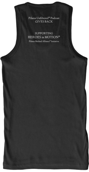 Heroes In Motion Black T-Shirt Back