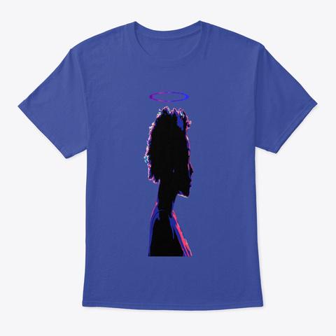 Black Girl Halo Deep Royal T-Shirt Front