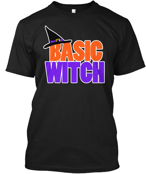 Basic Witch Black T-Shirt Front