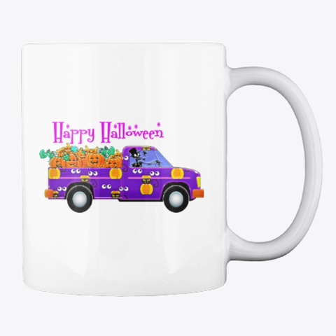 Happy Halloween Mug White T-Shirt Back