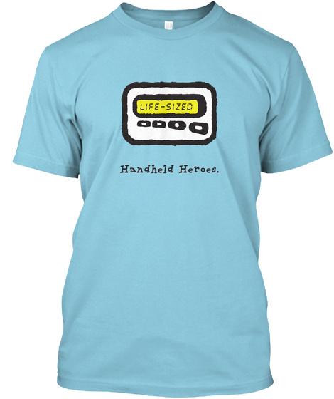 Pager   Handheld Heroes (Uk/Eu) Light Blue T-Shirt Front