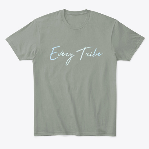 Every Tribe Apparel Grey T-Shirt Front