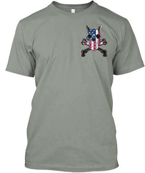 American K9 Handler Grey T-Shirt Front