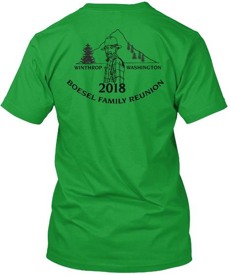 Winthrop Washington 2018 Boesel Family Reunion Kelly Green T-Shirt Back