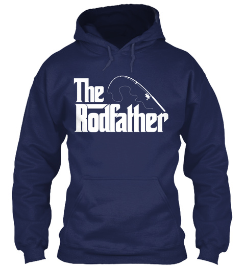 The Rodfather Navy Sweatshirt Front
