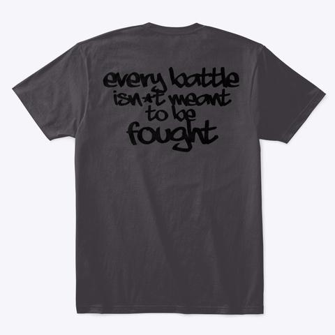Between Wars Skull Ebattle  Heathered Charcoal  T-Shirt Back