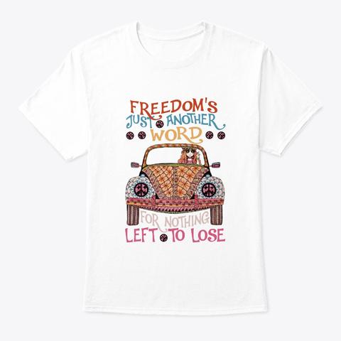 Flower Children Freedom Costume White T-Shirt Front