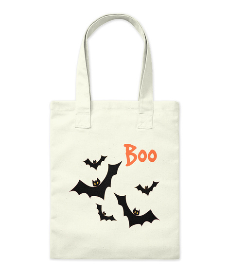 Halloween Canvas Trick Or Treat Bag Natural T-Shirt Front