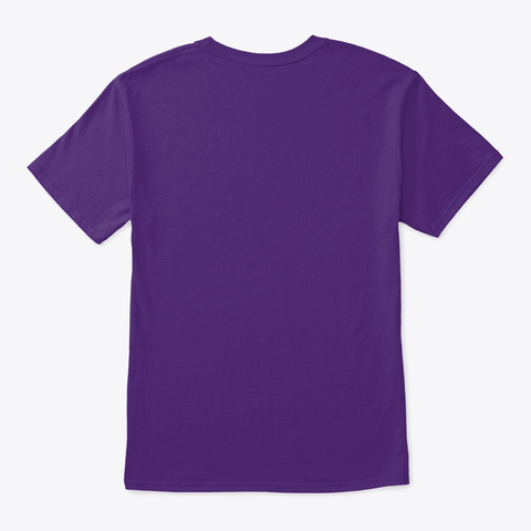 Afro Style Blonde Blond Frank  Purple T-Shirt Back
