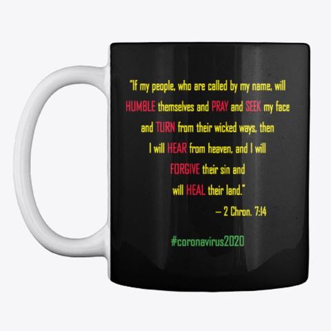 Coronavirus Religious Apparel & Mug Black T-Shirt Front