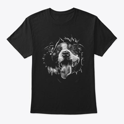 Dog Black T-Shirt Front