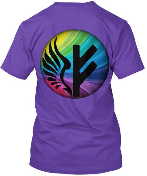 Freyja Project Black Rainbow Logo Purple Rush T-Shirt Back