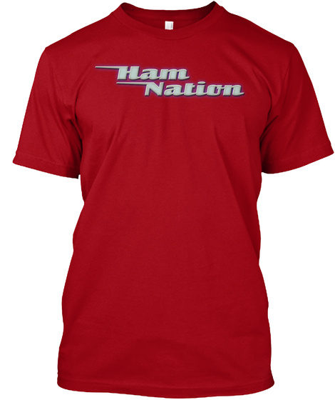 Ham Nation Deep Red T-Shirt Front