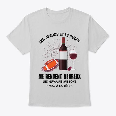 Les Apero Et Les Rugby Light Steel T-Shirt Front